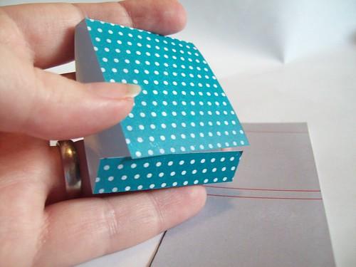 Fold along scored lines