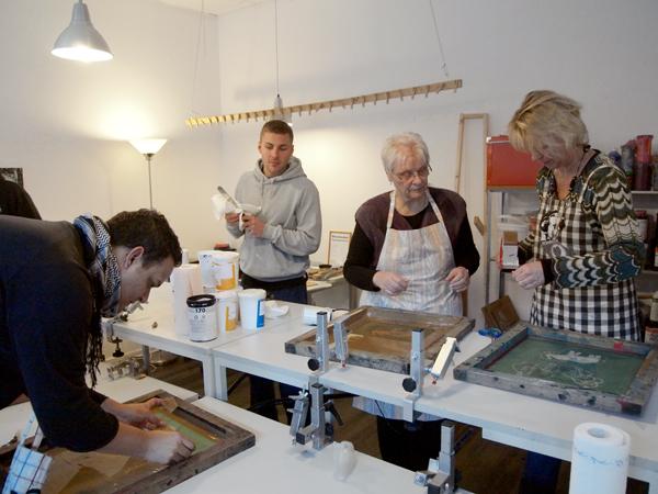 siebdruckkurs in Berlin unser Workshop im Januar