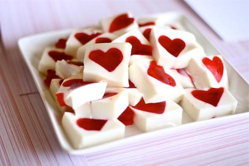Valentines jello hearts - Postres con frutas faciles ...