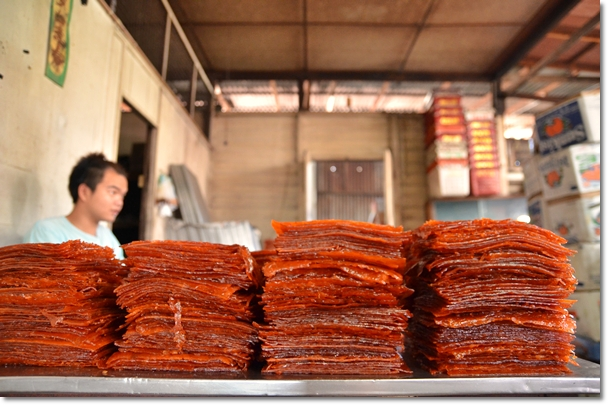 Stacks of Unsmoked Dried Meat
