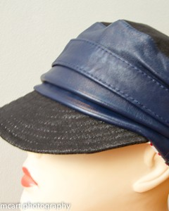 Leather cap I made today by McArt