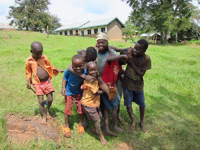 Ugandan Children Outside a School