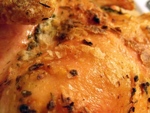 Mmmm, chicken skin