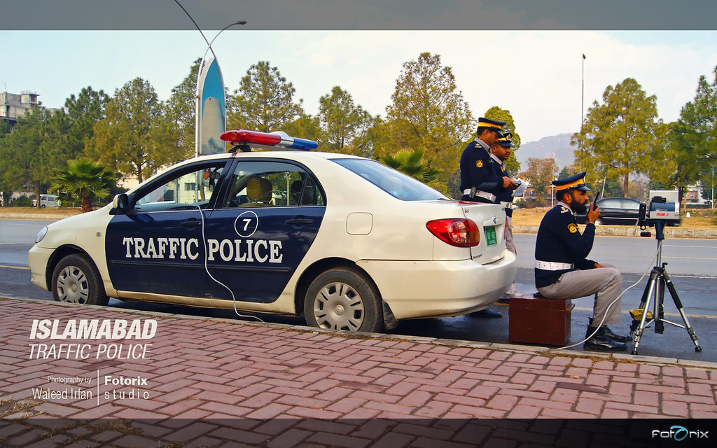 Islamabad Cops Police in Action