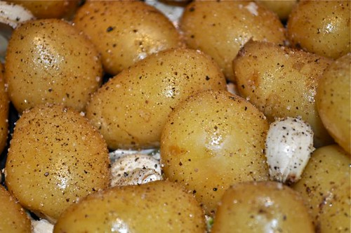 potatoes roasted in garlic, butter & olive oil 14
