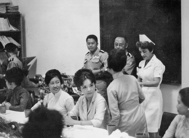 December 1966 - Visit by Madame Nguyen Van Thieu and Madame Nguyen Cao Ky