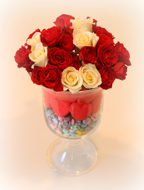 Valentine's Day floral arrangement brightboldbeautiful.com