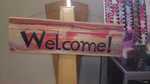 Welcome Sign by MeshedDesigns
