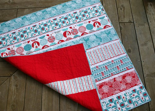 Brrr! baby quilt - backing