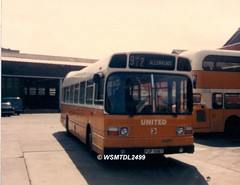 3105  PUP 505P  Leyland National MK I.  United Depot Gallowgate NEWCASTLE UPON TYNE
