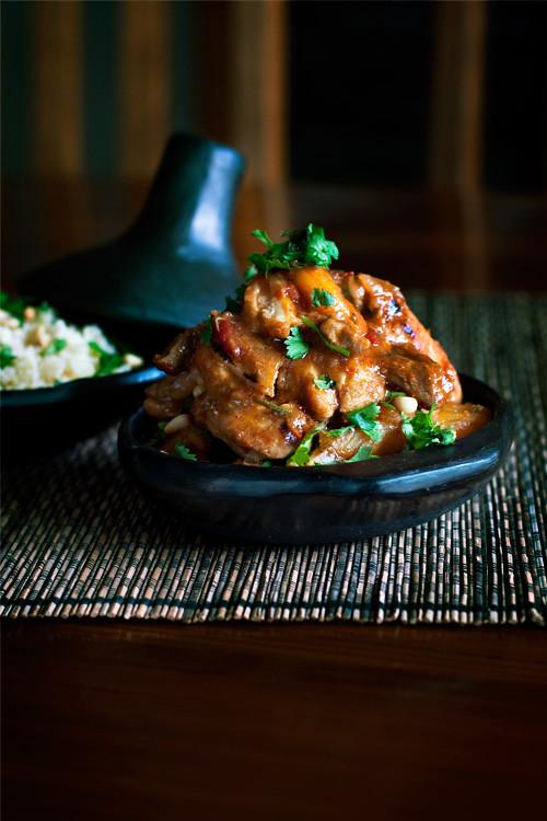 Chicken + Apricot + Ginger + Rosemary Tagine
