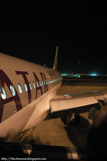 Doha International Airport - Qatar Airways Plane
