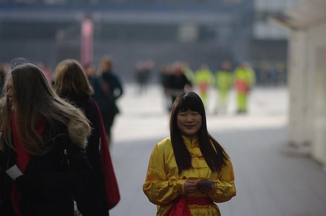 flyer girl, Chinees nieuwjaar in Den Haag