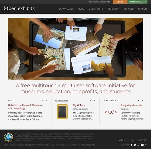 Open Exhibits Redesign Mock Up