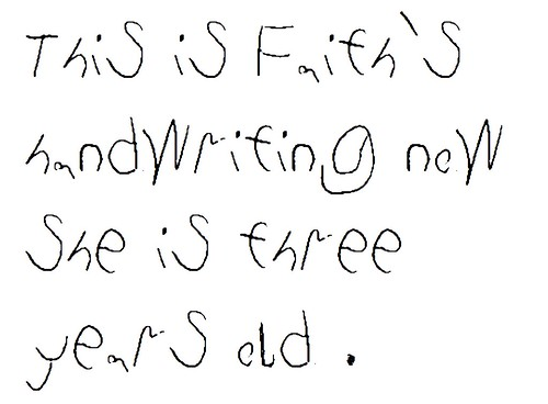 Little Kids Handwriting Font Tracking how my kids' handwriting changes ...