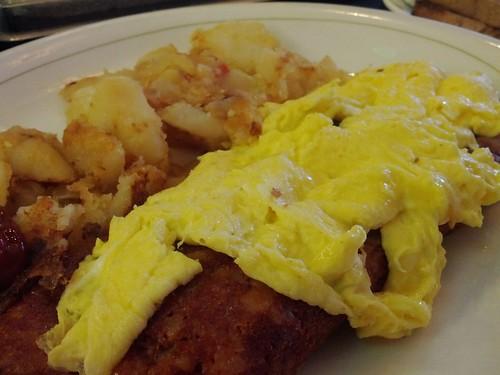 Corned Beef Hash and Scrambled Eggs