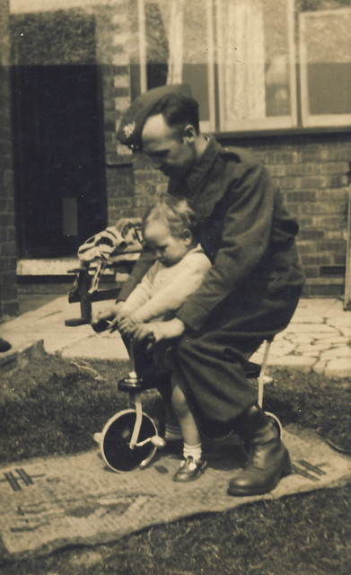 1940 - Dad with my brother Roy