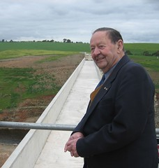 Dr. Bruce Eastick AM, 2008. Opening of the Bruce Eastick North Para Flood Mitigation Dam.