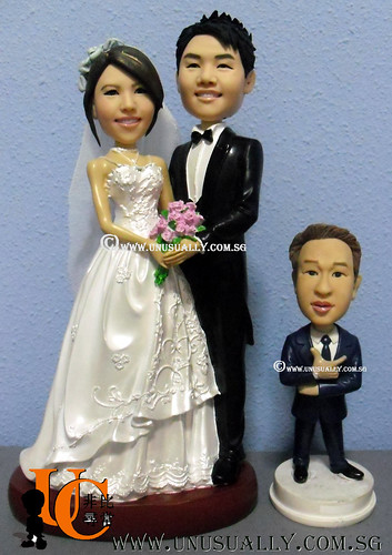 Unusually Limited Edition 30CM Tall Lovely Wedding Couple Figurines