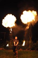 Mage warrior fire dancing