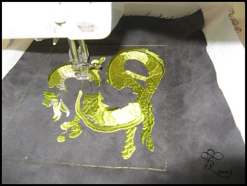 week 5 machine embroidered dragon