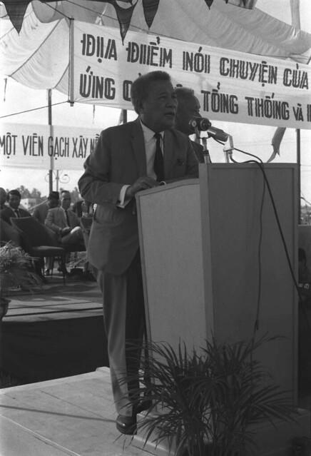 1967 - ƯCV Trần Văn Hương vận động tranh cử Tổng Thống tại tỉnh Phong Dinh (Cần Thơ)