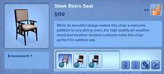 Sleek Bistro Seat