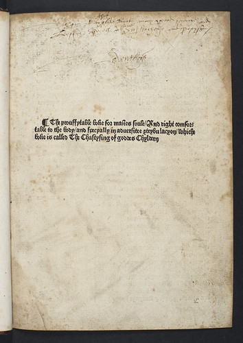 Title-page of The Chastysing of goddes Chyldern