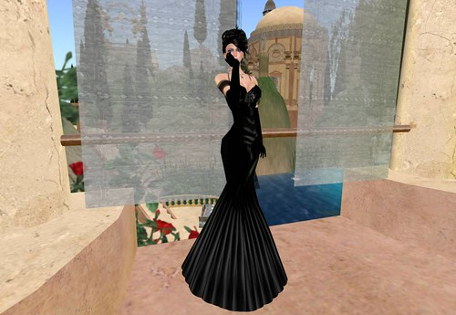 Earth & Sky - Elegance and Midnight Evening Gown (free) by Cherokeeh Asteria