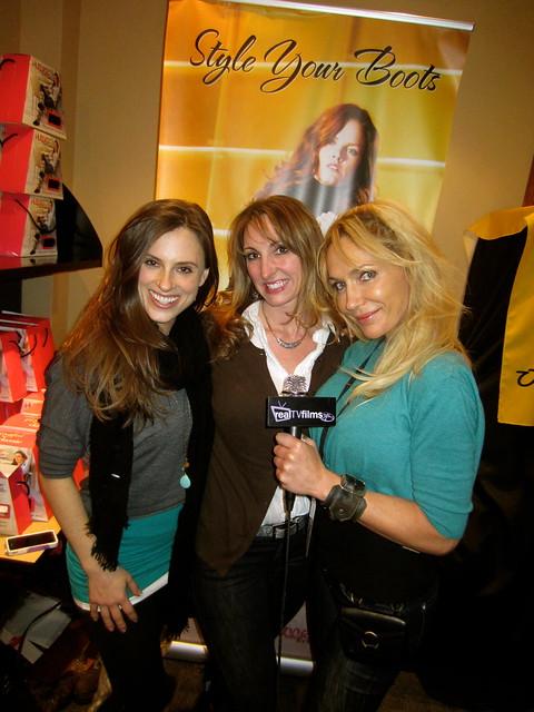 HUGGRZ Boot Wraps, Jennifer Cortese, Deb Miller, Susie Oliver, Alive Expo Green Pavilion, Sundance 2012