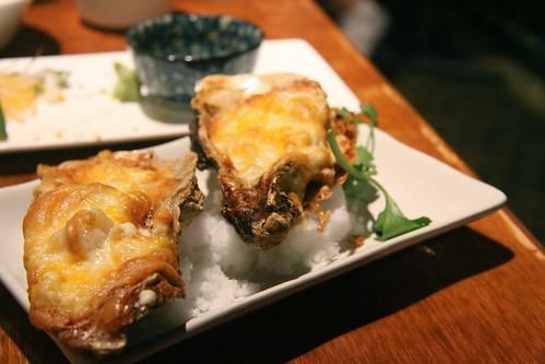 Guu w/ Garlic, Vancouver - Kakimayo: baked oyster, spicy cod roe, mayo cheese