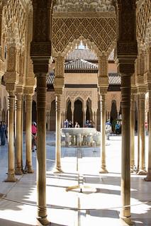 Image of Palacios Nazaríes. alhambra granada patiodelosleones palaciosnazaríes