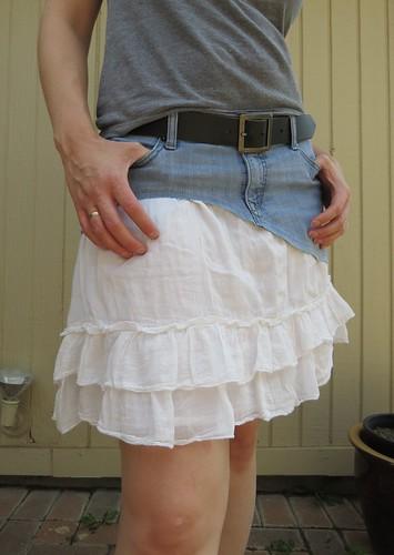 Denim Frill Skirt