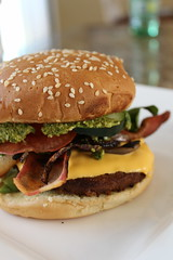 Vegan Bacon Cheeseburger