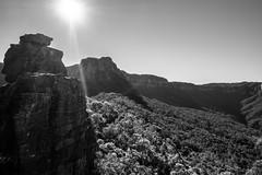 Escarpment from Ruined Castle B&W I