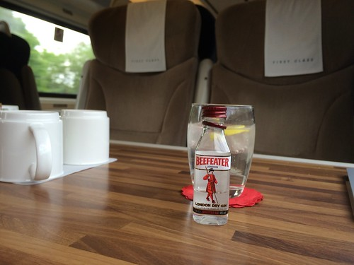 Train ride - London gin in preparation