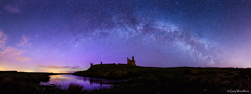 Castle Stars - Milky Way & Aurora Borealis, Dunstanburgh Castle, Northumberland