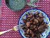 Brazilian-style chicken hearts