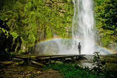 Rainbow and Rasta at the Waterfall by B.Bubble