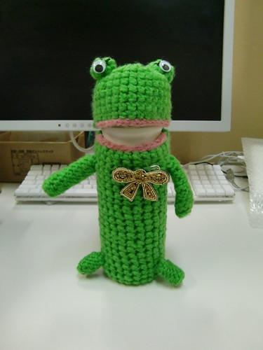 カエルさんのマグカバー The frog of a crochet