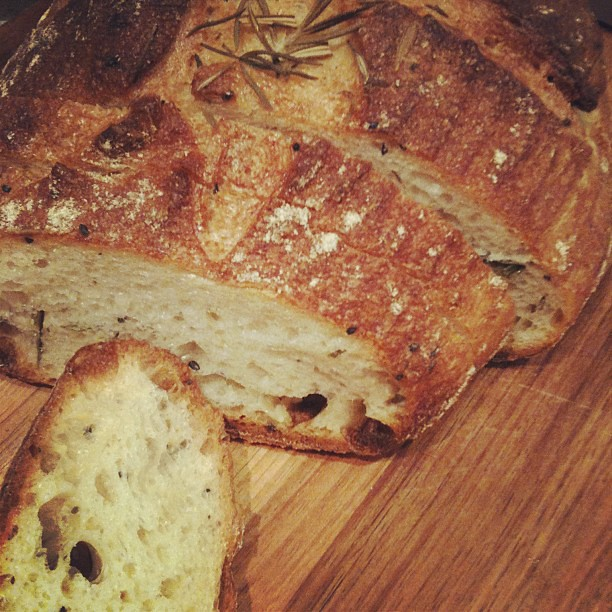 Potato and rosemary sourdough from Bourke St Bakery's new Potts Point store