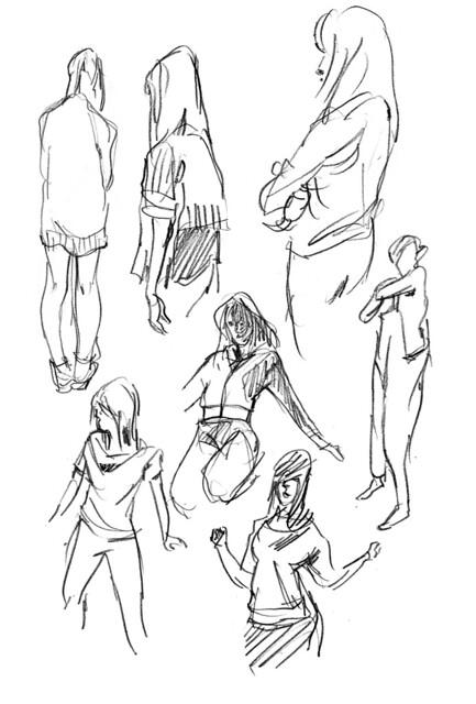 Gesture sketches - 11 29 2011