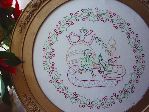 The Little Elves Embroidery Pattern