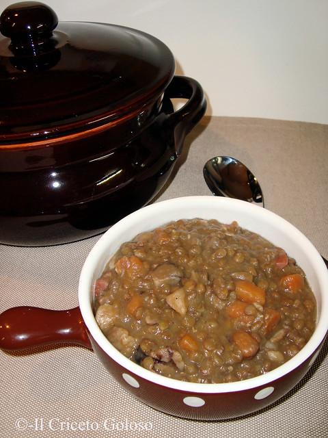 Zuppa di castagne, carote e lenticchie 2