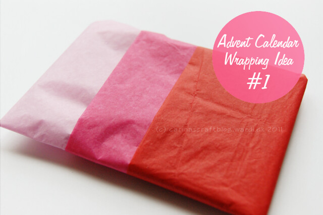 Wrapping idea: layered tissue paper