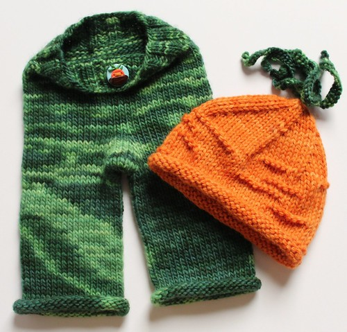 Longies (with button down waistband) and Hat Set - NEWBORN  **40% OFF**