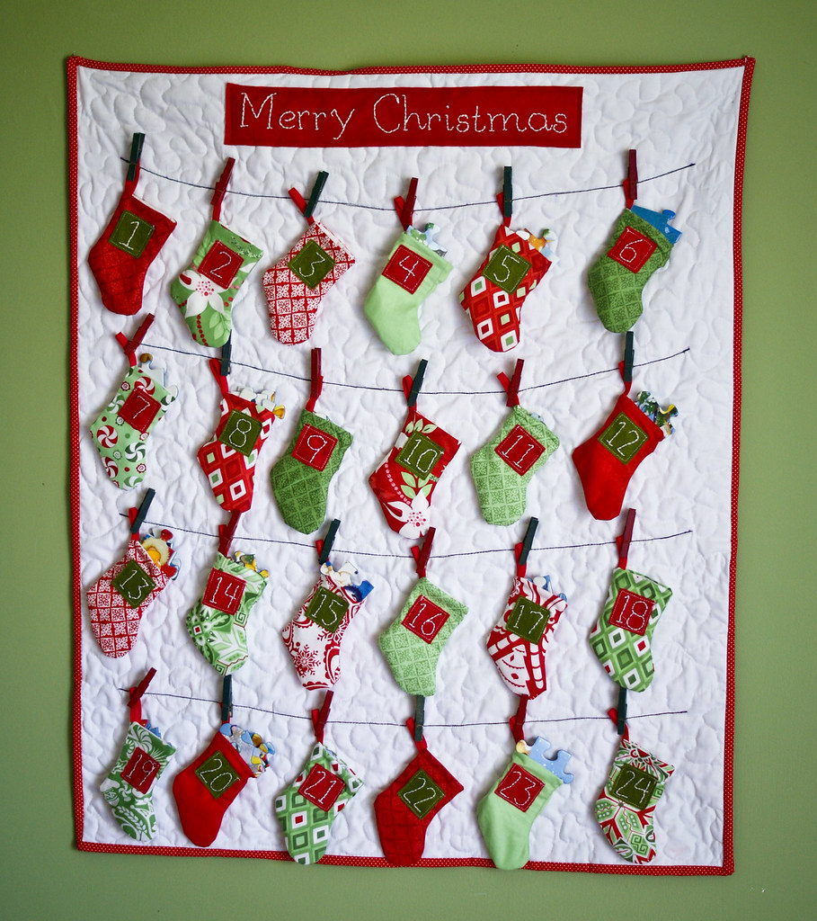 Sewn Advent Calendar Ideas : Me and madeline our advent calendar some ideas