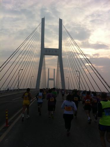 Running over the Nanpu bridge