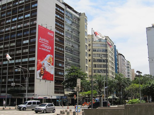2011 Santa Claus Billboard Coca-Cola at the entrance of Copacabana - Rio de Janeiro by roitberg