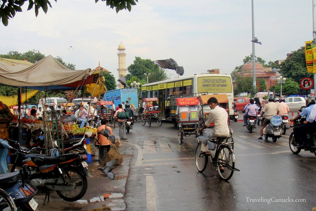 Congested Streets of Jaipur, India